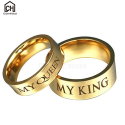 Couples King and Queen Gold Rings