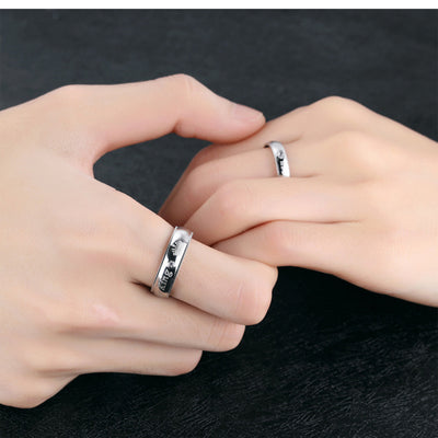 Couples King and Queen Silver Rings
