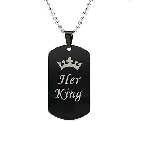 Couples King & Queen Couple Necklace