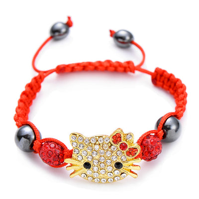 Handmade Children Silver Cat Bracelet Girls\Boys
