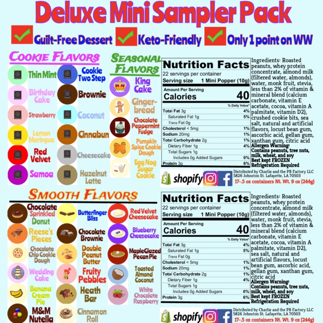 *Deluxe* Mini Sampler Pack (34 Flavors)
