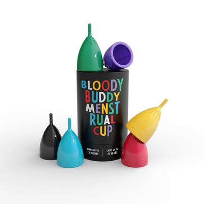 Bloody Buddy Menstrual Cup color options