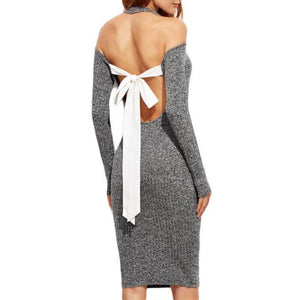 Nevaeh - Elegant Knit Pencil Dress