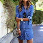 Peyton - Casual Denim Dress