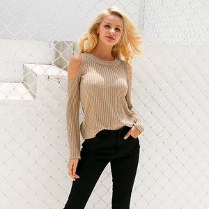 Savannah - Cold Shoulder Knitted Top