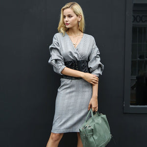 Sophie - Vintage V Neck Dress