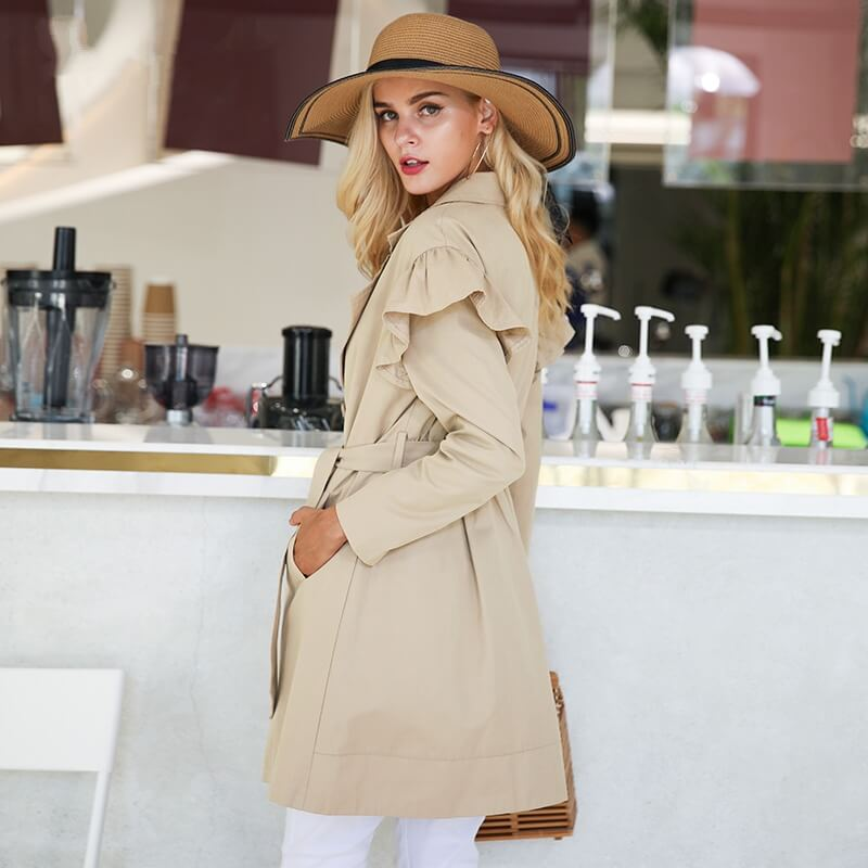 Isabella - Casual Ruffle Trench