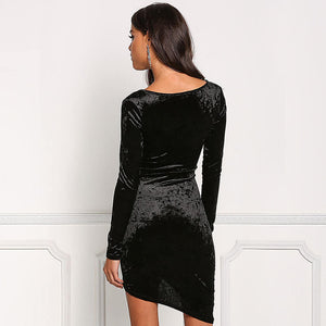 Layla - Asymmetrical Velvet Dress