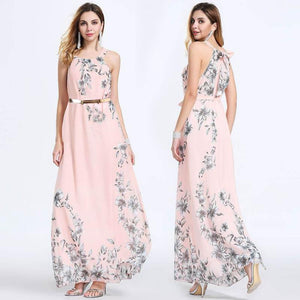 Bella - Floral Chiffon Dress