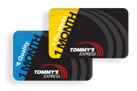 tommys express 1 month gift cards
