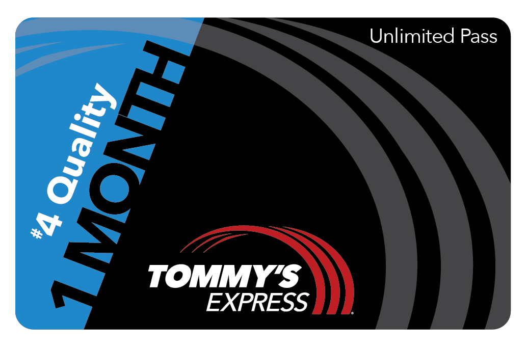 tommys express 1 month quality card