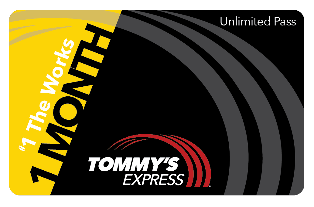 tommys express 1 month works card