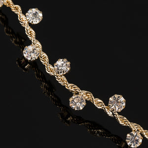 Crystal Embellished Gold Headband - Bliss Ever After
