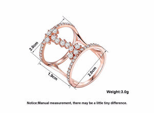 Geometric Cubic Zirconia Ring - Bliss Ever After