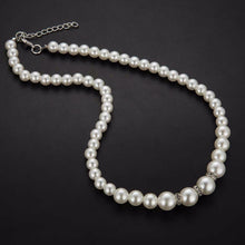 Pearl & Crystal Necklace, Bracelet & Earrings Jewelry Set - Bliss Ever After