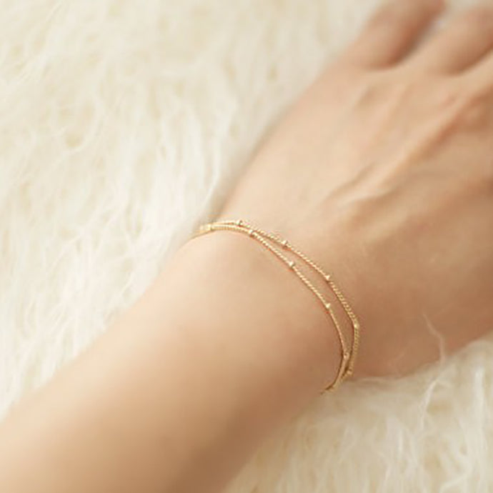 Double-Layer Satellite Chain Bracelet - Bliss Ever After