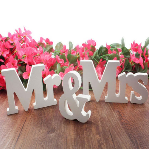 3 Piece 'Mr & Mrs' Letter Decoration Set - Bliss Ever After