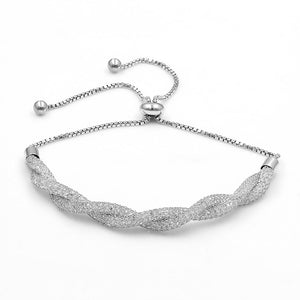 Single & Double Row Cubic Zirconia Adjustable Bracelet - Bliss Ever After