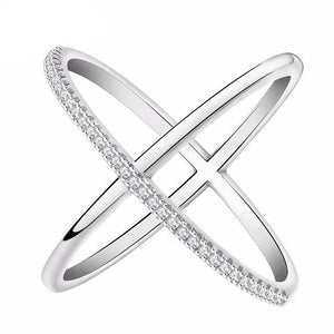 Crossover Infinity Cubic Zirconia Ring - Bliss Ever After