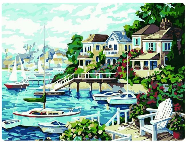Cartoonish Sunny Harbor - LOVIELO