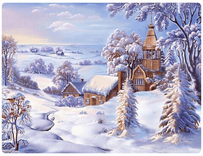 Calm & Beautiful Snow Landscape - LOVIELO