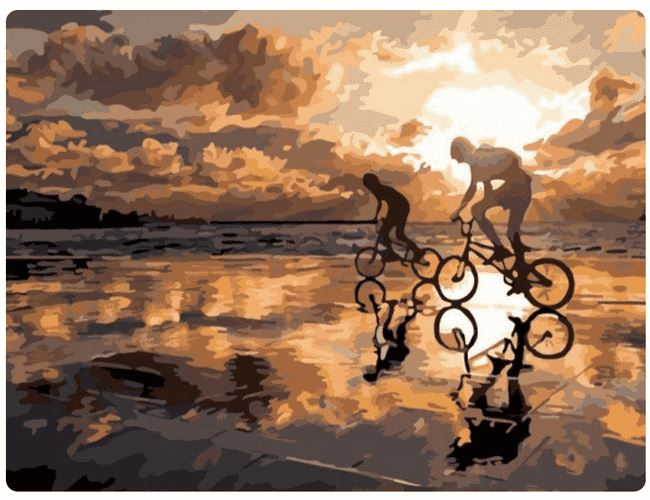 Cycling On The Beach - LOVIELO
