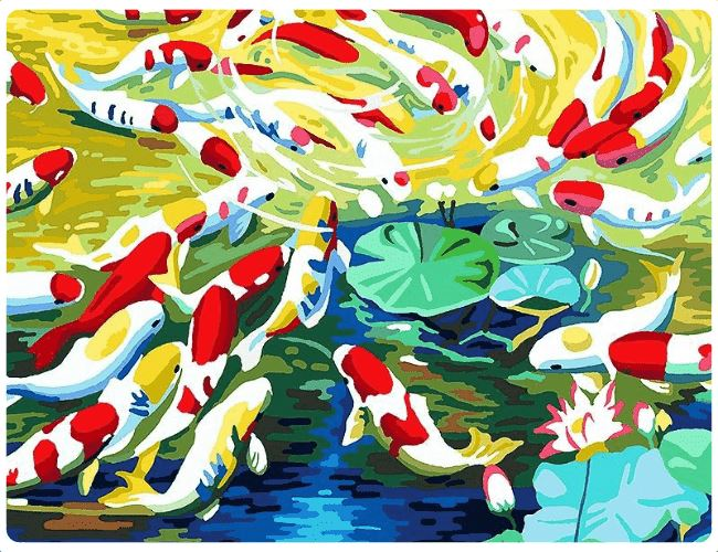 A Pond Full of Colorful Fishes - LOVIELO