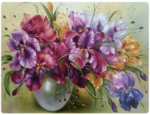 Vase with Colorful Purple Flowers - LOVIELO