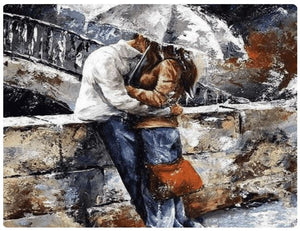 A Couple In The Rain - LOVIELO