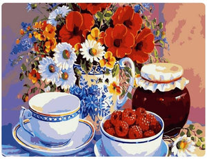 Cartoonish Flowers, Fruits, Tea and Jam - LOVIELO