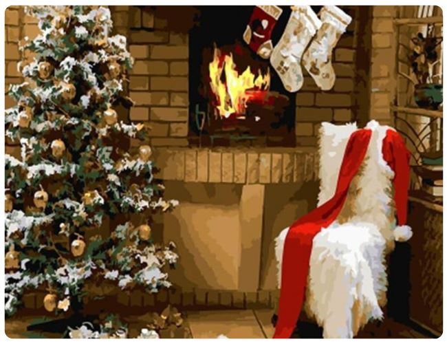 Christmas Fireplace - LOVIELO