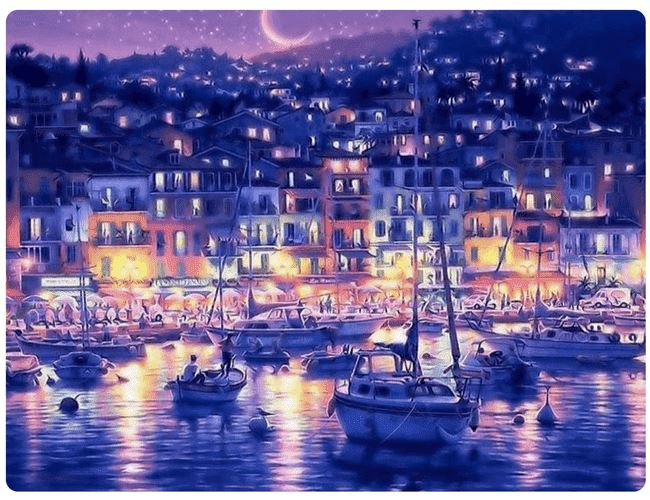 Stunning Harbor at Night - LOVIELO