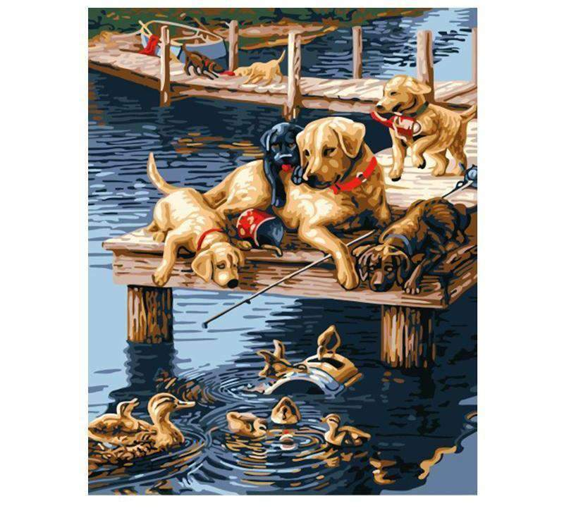 Dogs In The Lake - LOVIELO