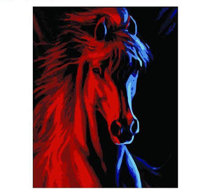 Abstract Red Horse - LOVIELO
