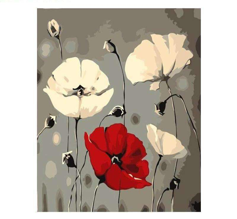 Red & White Poppies - LOVIELO