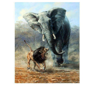 Fighting Lion VS Elephant - LOVIELO