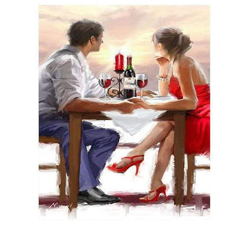 A Couple Having a Romantic Dinner - LOVIELO