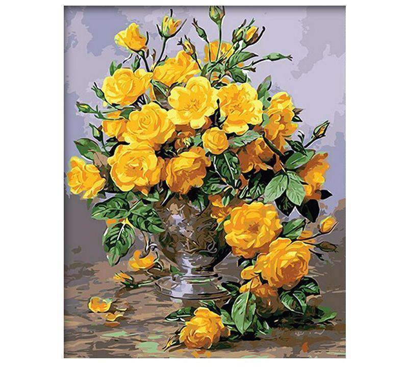 Beautiful Vase with Yellow Flowers - LOVIELO