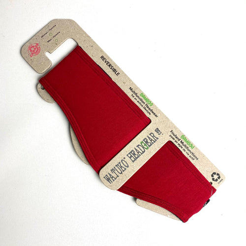 Fleece Headband - Red