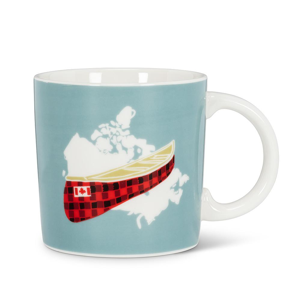 Plaid Canoe Mug