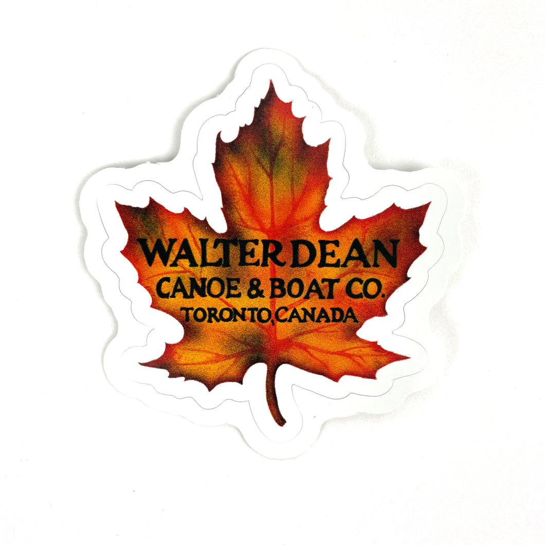 Walter Dean Canoes and Boats Sticker