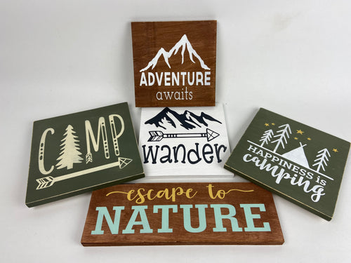 Painted Wooden Signs - Small