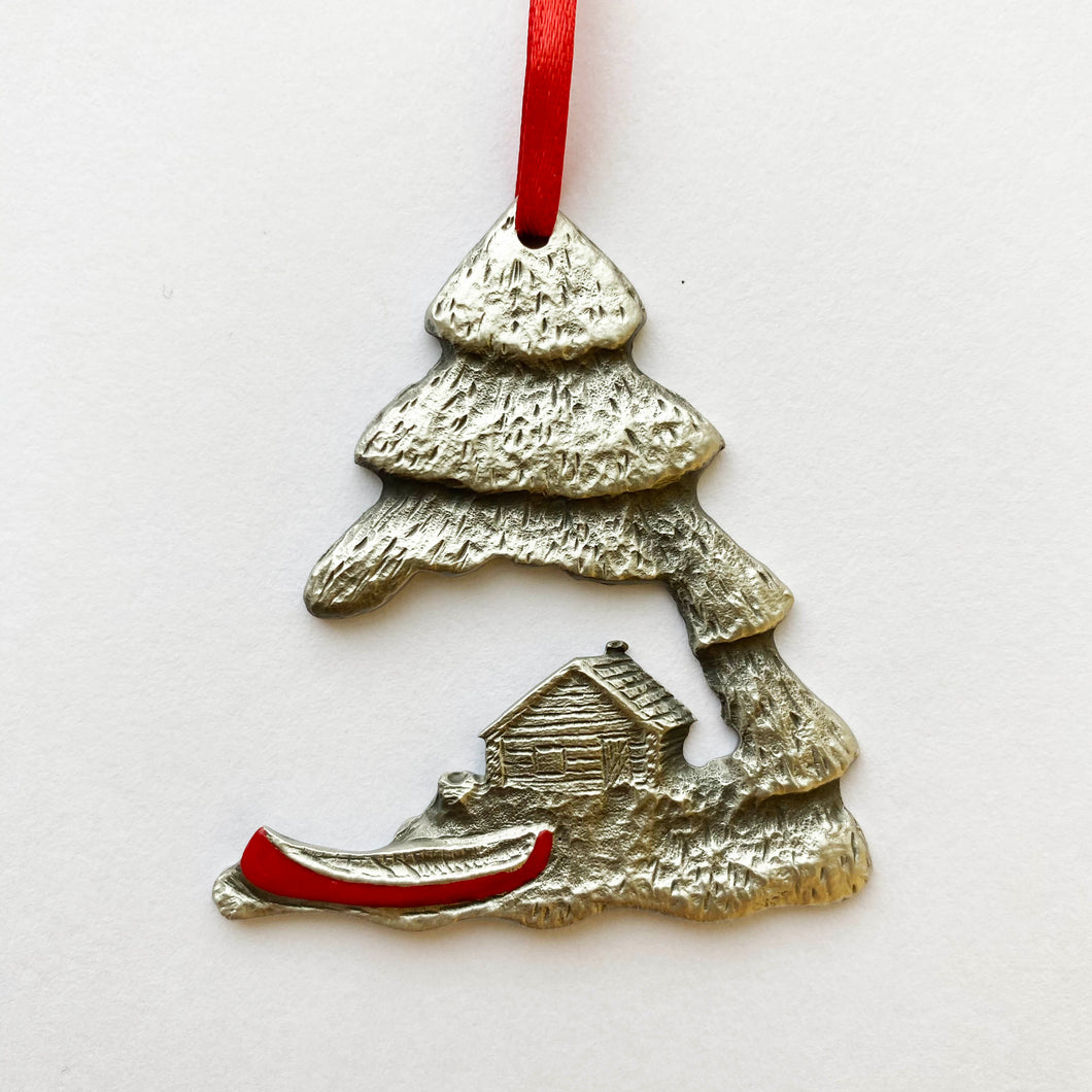 Canoe & Cabin Ornament