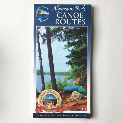 Algonquin Canoe Route Planning Map