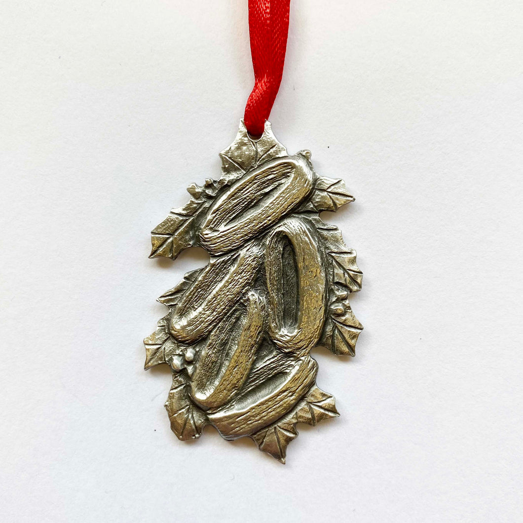 12 days: 5 Golden Rings Pewter Ornament