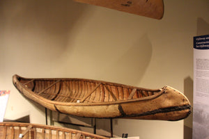 Ojibway Four Thwart Birch Bark Canoe - ADOPTED in memory of Terence David Hall