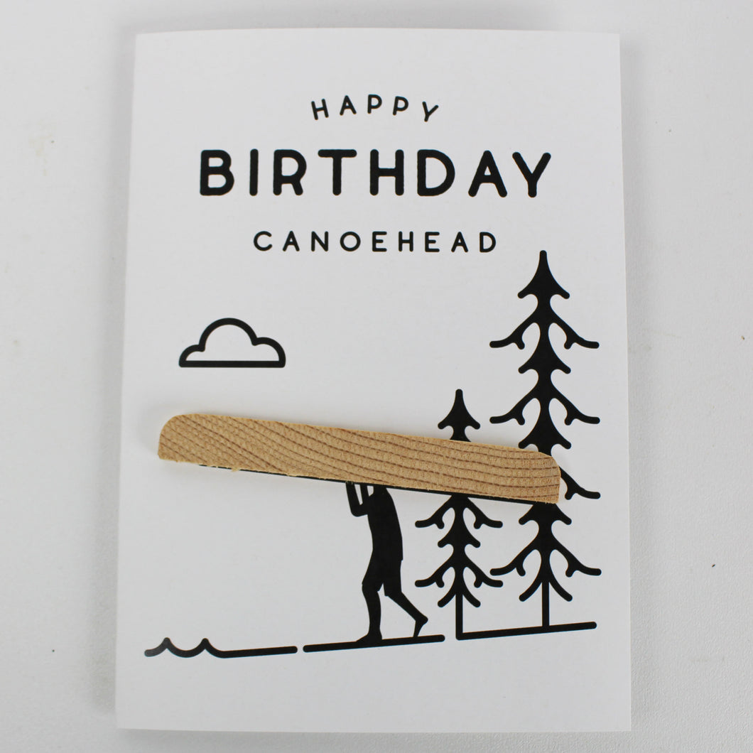 Canoe Head Birthday Card