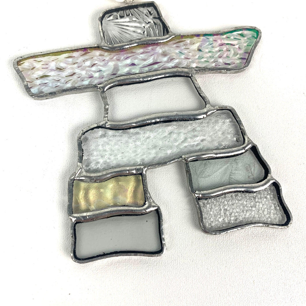 Stained Glass Inukshuk