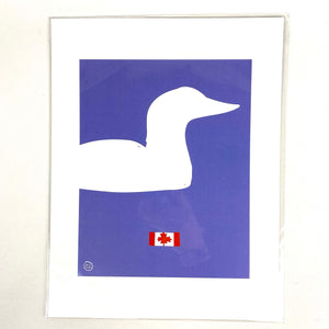 Loon Silhouette Print