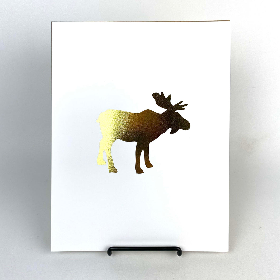 Gold Moose Art Print